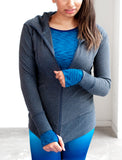 LADIES ZIP FRONT COTTON HOODY