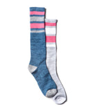 GIRLS 2 PACK WORK SOCK KNEE HIGHS