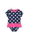 INFANT GIRLS POLKA DOT RASHGUARD ONE-PIECE