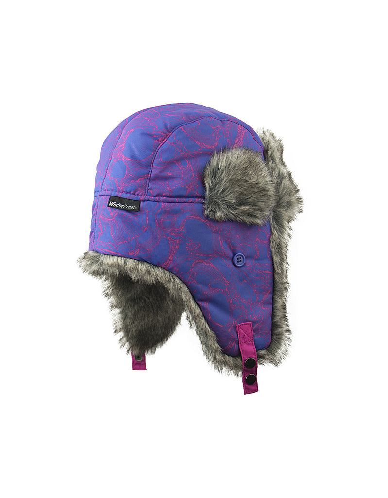 GIRL'S 2-3X TRAPPER W/ FAUX FUR