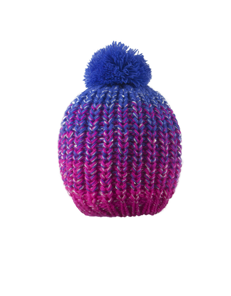 GIRL'S 4-16 SEQUINED OMBRE KNIT TOQUE W/ POM POM