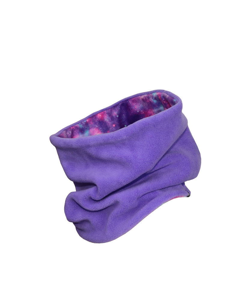 GIRLS PRINTED REVERSIBLE FLEECE NECK WARMER