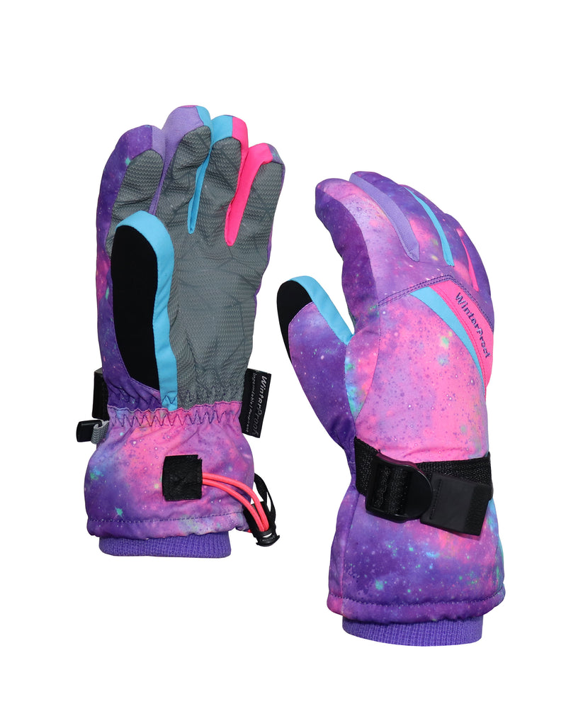 GIRLS 4-16 PRINTED SKI GLOVE