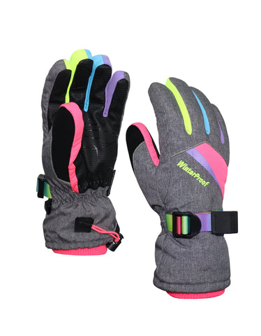 GIRLS 4-16 RAINBOW SKI GLOVE