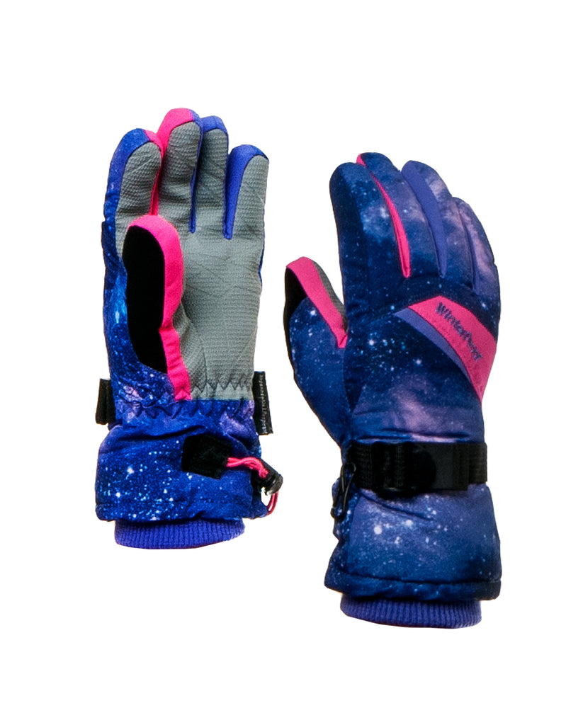GIRLS 4-16 GALAXY PRINT GLOVE
