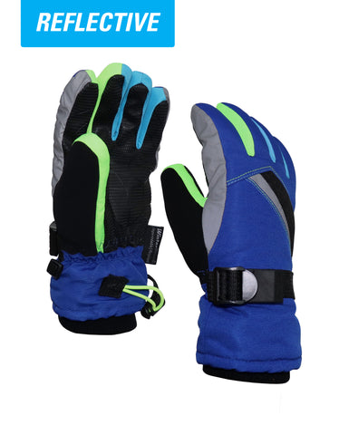 BOYS 4-16 DEBOSSED NEOPRENE SKI GLOVE