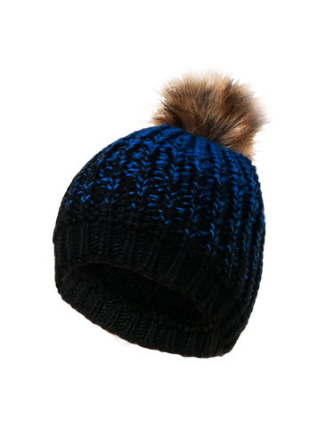 BOYS FAUX FUR POM KNIT TOQUE