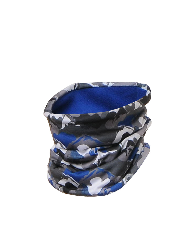 BOYS CAMO PRINT NECK WARMER