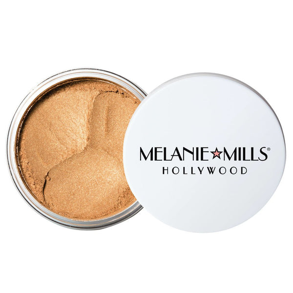 Melanie Mills Hollywood Gleam Radiant Dust Shimmering Loose Powder for Face & Body Bronze Gold