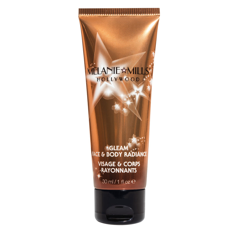 Melanie Mills Hollywood Gleam Face & Body Radiance All In One Makeup, Moisturizer & Glow Deep Gold