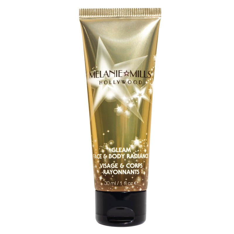 Melanie Mills Hollywood Gleam Face & Body Radiance All In One Makeup, Moisturizer & Glow Disco Gold