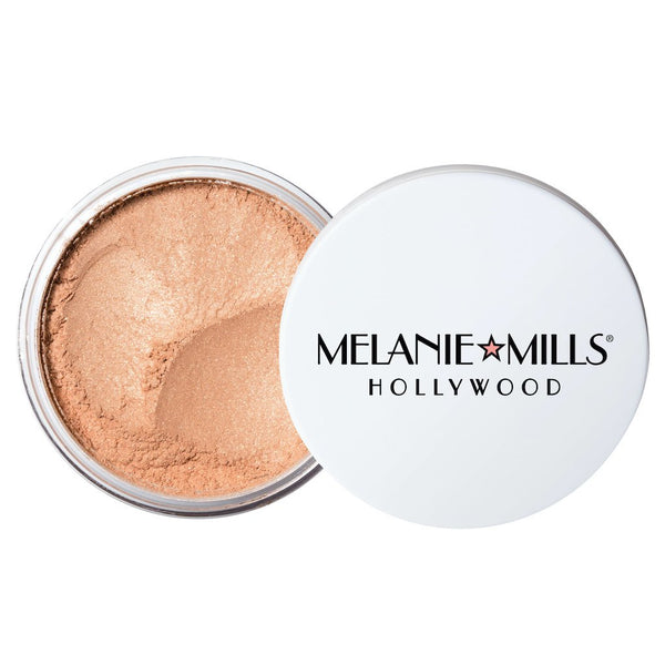 Melanie Mills Hollywood Gleam Radiant Dust Shimmering Loose Powder for Face & Body Rose Gold