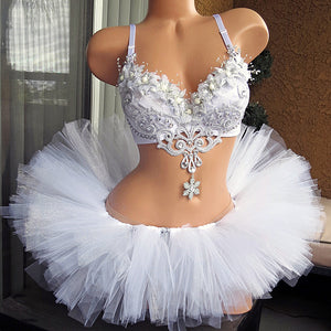 Silver White Wonderland Rave Outfit