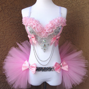 Pink Roses Rave Outfit