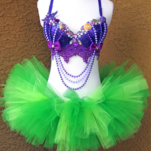 Sparkle Purple Green Mermaid Outfit