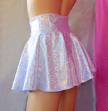 Shattered Glass Holographic Skater Skirt