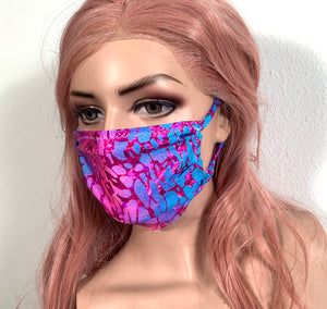 Blue Pink Purple Face Mask