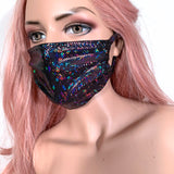 Black Holographic Face Mask
