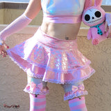 Iridescent Pastel Pink Mermaid Skirt