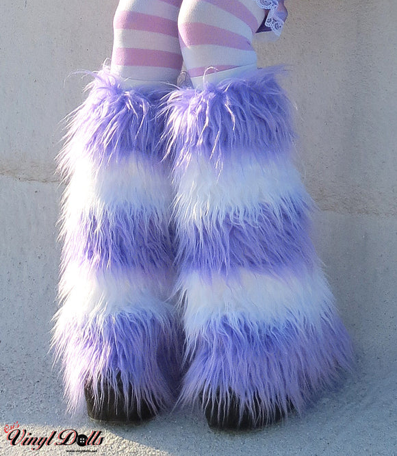 Pastel Purple White Fluffies