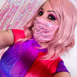 Pink Mermaid Holo Face Mask