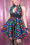 Multi Color Alien Print Dress