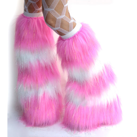 Candy Pink White Fluffies
