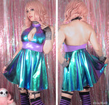 Oil Slick Holographic Mermaid Dress - LAST ONE!