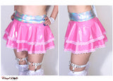 Bubble Gum Pink Vinyl Skirt