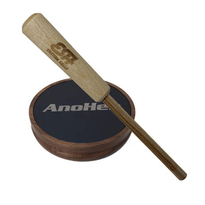 AnoHen Anodized Aluminum Walnut Pot with Hickory Striker