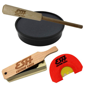 Starter Kit - Slate Pot Call with Hickory Striker + Mouth Call + Box Call