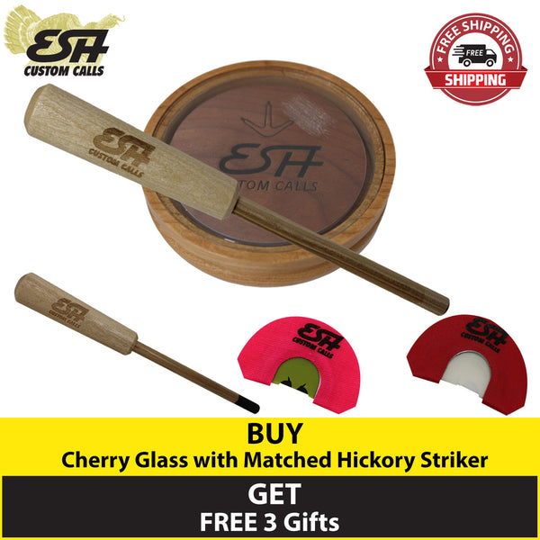 Buy 1 Cherry Glass Pot Call and Get 3 Free Gifts - Esh Custom Calls