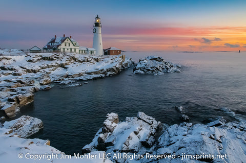 1003 - Portland Head Light - Winter Sunrise