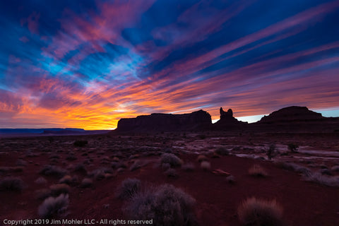 1019 - Sunset Monument Valley Utah