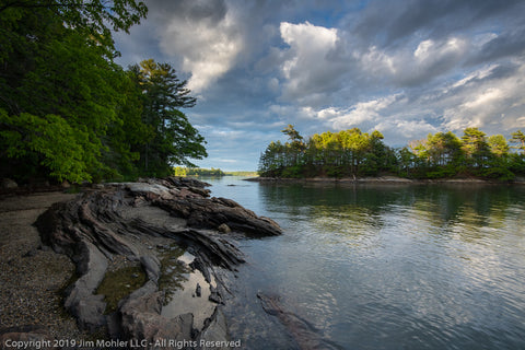 1023 - Wolfe's Neck State Park - Googins Island near sunset