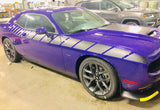 2008+ Dodge Challenger 3/4 Length Strobe Side Stripe Graphics Kit