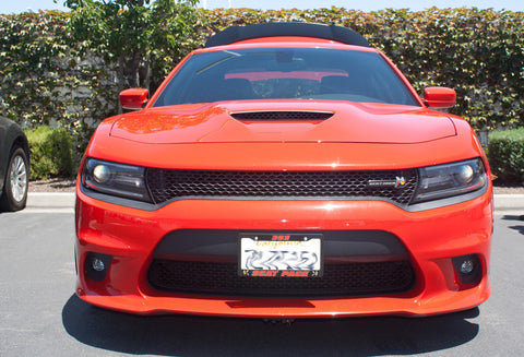 Quick-Release Front License Plate Bracket 2015-2018 Dodge Charger SRT 392, ScatPack, Hellcat and 2017-2018 Daytona (SNS66e)