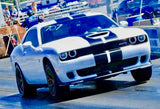 2015+ Up Dodge Challenger SRT Hellcat Style Rally Stripe Kit