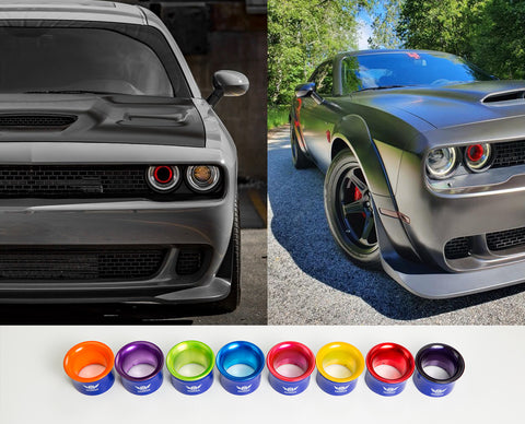 2015-2020 Transparent Kandy Dodge Challenger Headlight Intake Rings