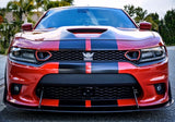 Set of 2 2019 Dodge Charger SRT Scat Pack Daytona Upper Grille 3D EPOXY RING DECALS for Bezels