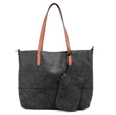 2 in 1 Tote: Black