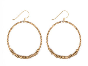 Earrings: Golden Hoops