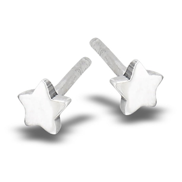 High Polish Square Stud Earring: B3