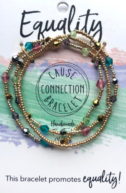 Cause Connection Bracelets: EQUALITY