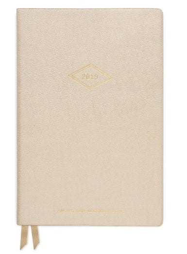 Medium Vegan Leather Agenda: Vintage Diamond Year