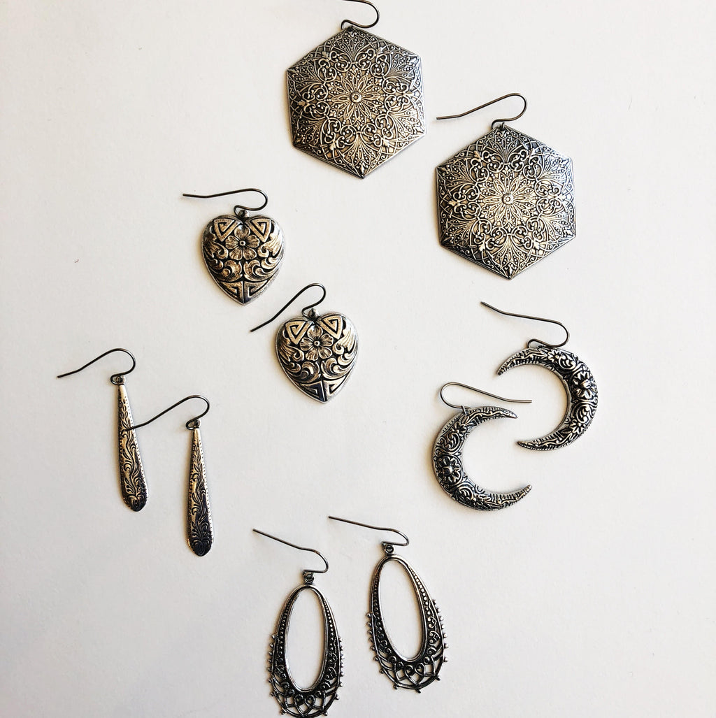 Lightweight Silver Earrings