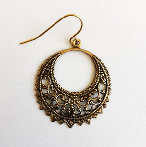 Lightweight Brass Earrings