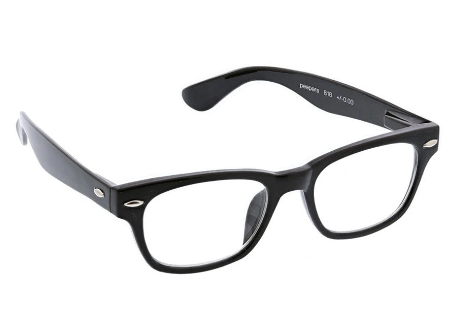 Peepers Blue Light Glasses: Clark Black