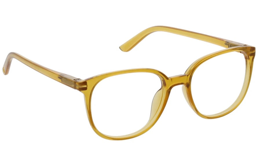 Peepers Blue Light Glasses: Heirloom in Amber