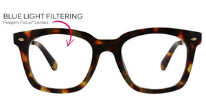 Peepers Blue Light Glasses: Limelight Tortoise